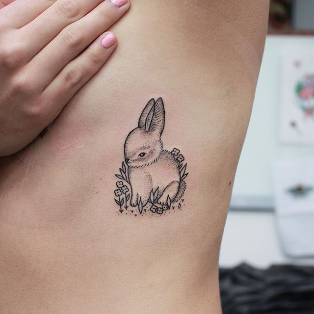 Baby bunny peanut for Katie's first tattoo!!!! @the ...