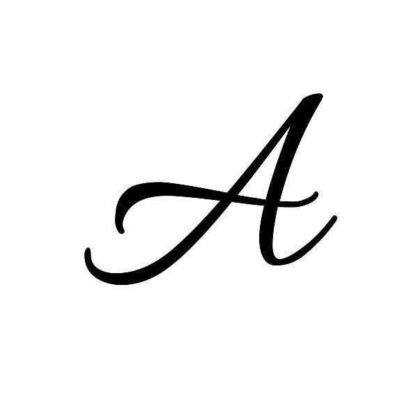 Cursive A Tattoo | Tattoos & Piercings | Lettering, Cursive