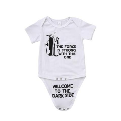 a89e3072c7f16 Newborn Kids Baby Boy Girl Funny Jumpsuit Bodysuit Clothes Outfits Print  Letter Daily Toddler Infant Girls