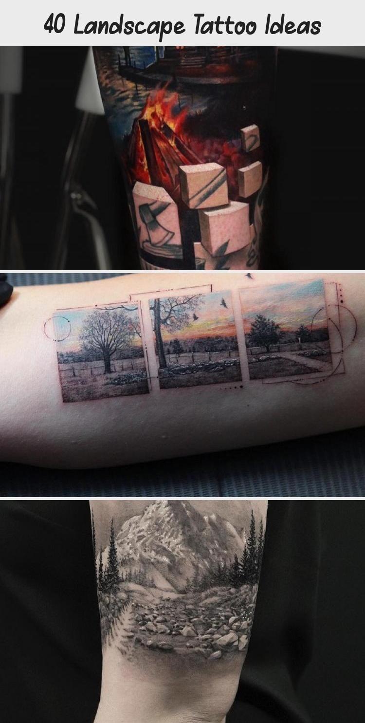 Photo of Idées de tatouage de paysage #ArtTattooSymbols #ArtTattooDaVinci #ArtTattooIllustratio …