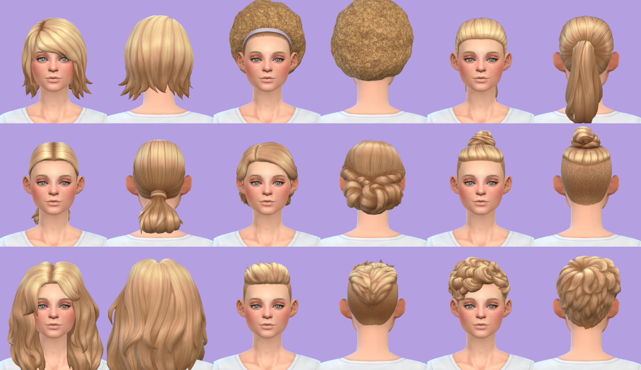The sims 4 hairstyles cc - Get To Work Hairs Base Game At Pickypikachu Via Sims 4 Updates