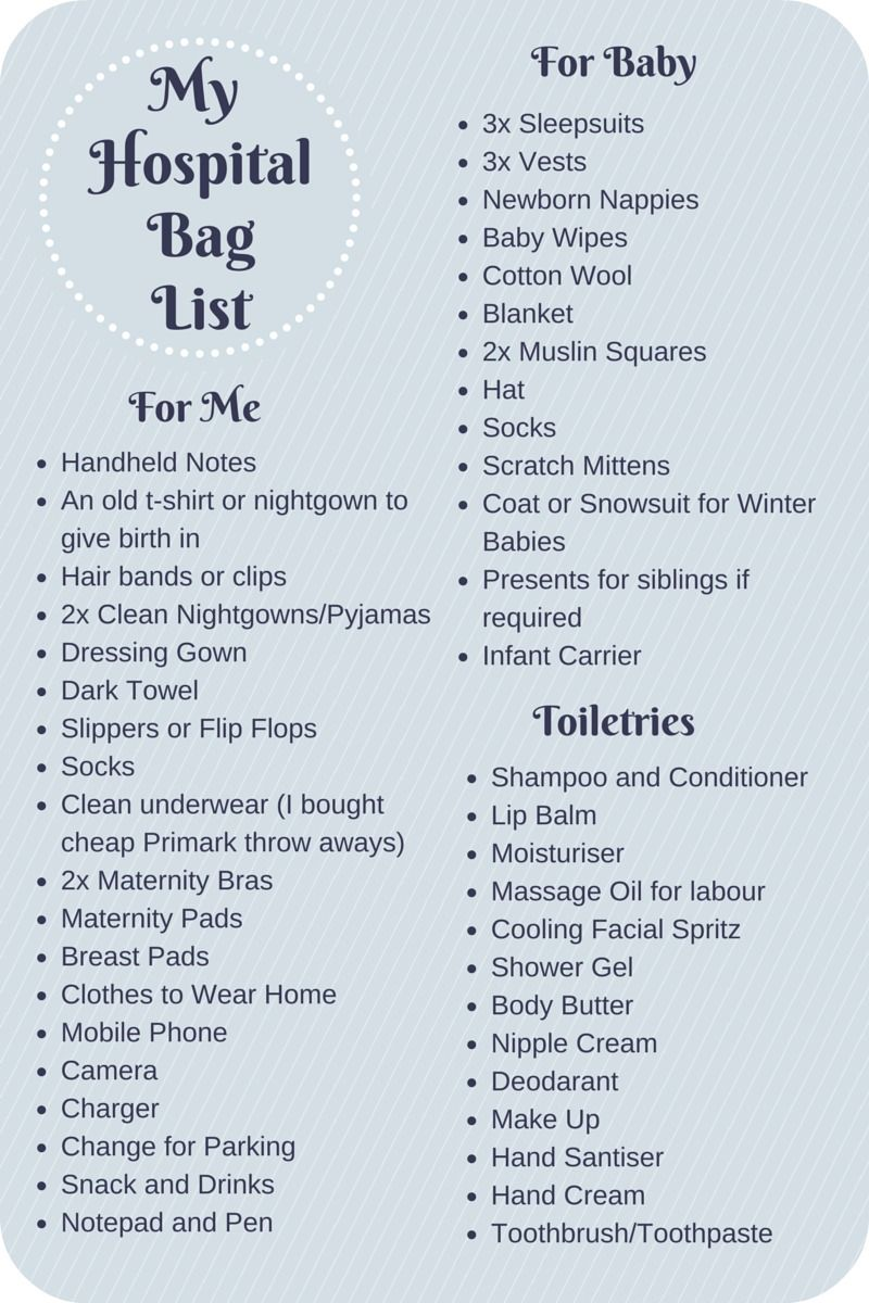 What To Pack In Your Hospital Bag Checklist