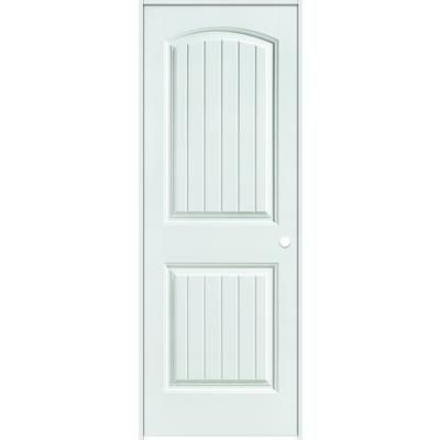 Masonite Primed 2 Panel Plank Smooth Prehung Interior Door 36 Inch X 80 Inch Left Hand Home