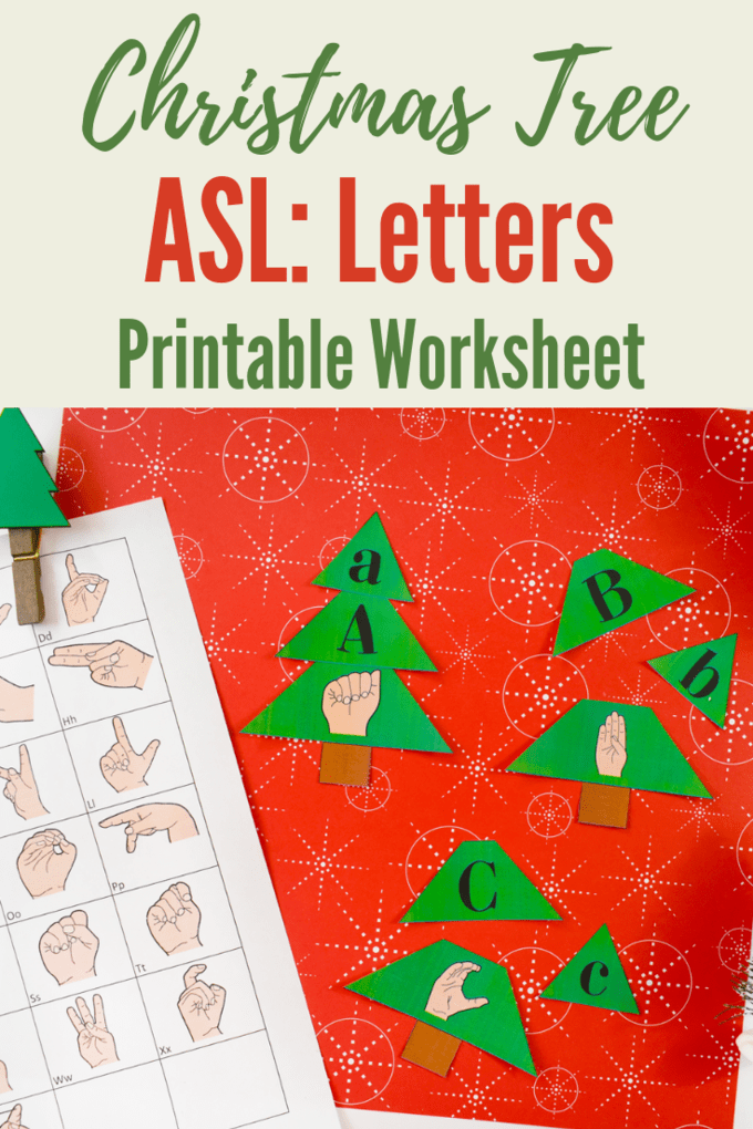 christmas tree worksheet build a tree matching letters to asl let 39 s learn sign language. Black Bedroom Furniture Sets. Home Design Ideas