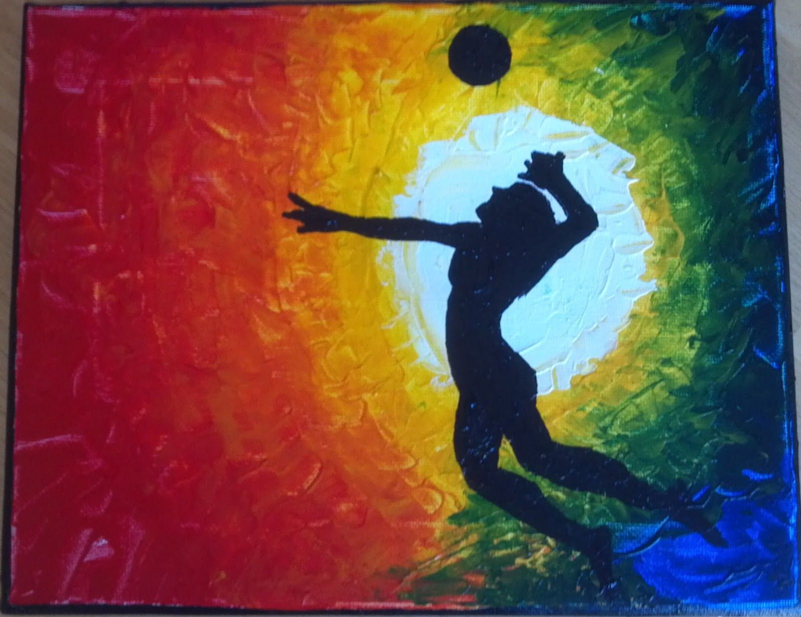 Surprised Artist Volleyball Drawing Sports Painting Star Painting