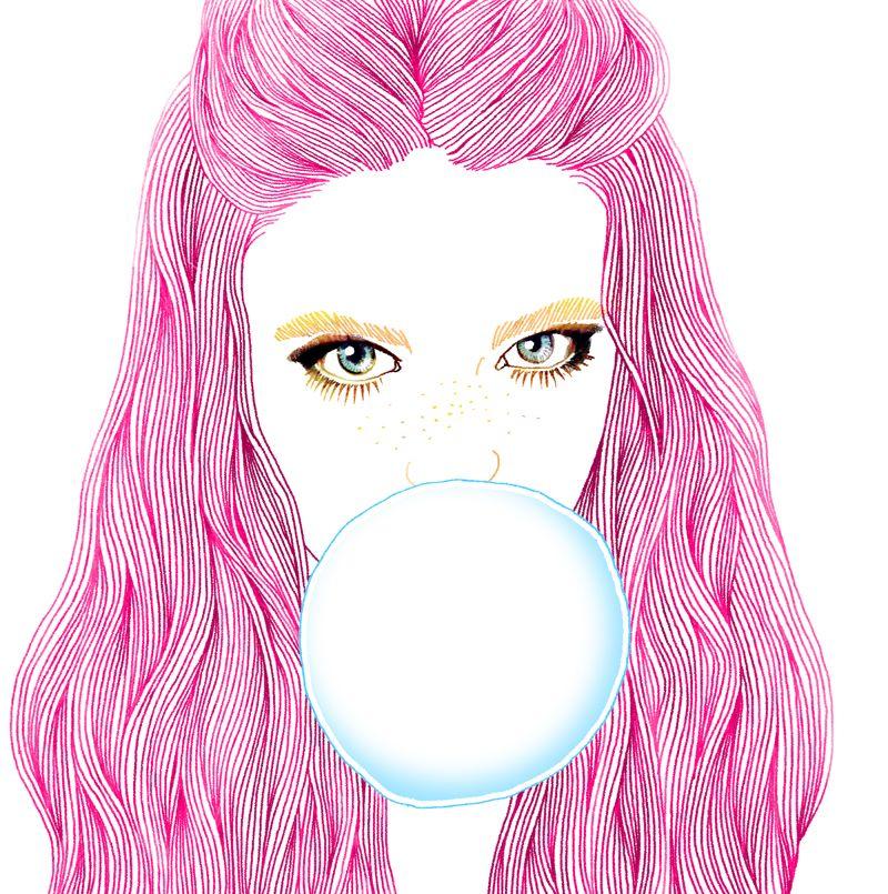 Bubble gum girl. By Hajin Bae
