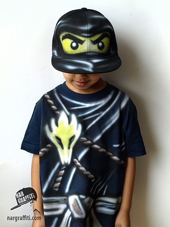 Black NINJA Costume COLE Ninja T-shirt and Snapback by NarTshirt & Black NINJA Costume |Ninjago COLE T-shirt and Snapback Hat Cap ...