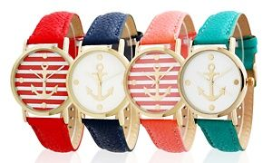 Groupon - Women's Anchor Dial Watch in [missing {{location}} value]. Groupon deal price: $10.99