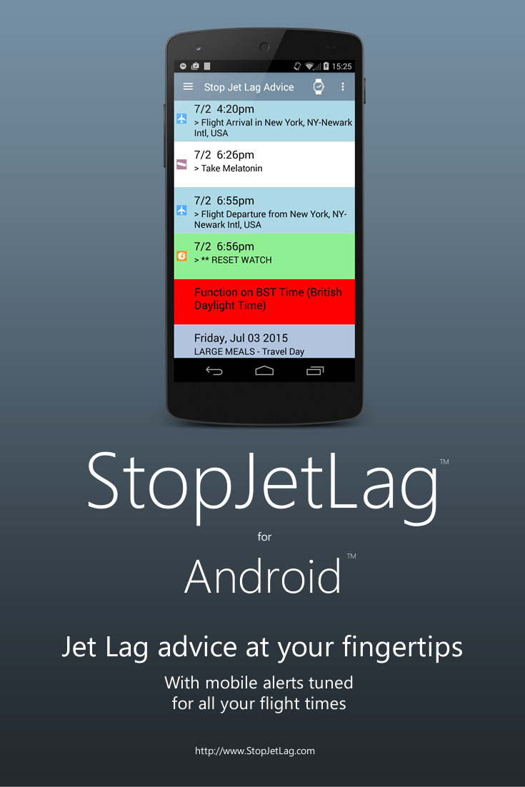 Jet lag app android