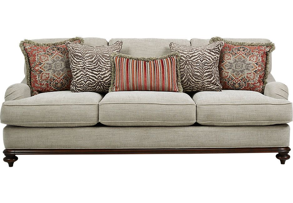 Cindy Crawford Home Bali Breeze Taupe Sofa 888 0 94 5w X 43d X