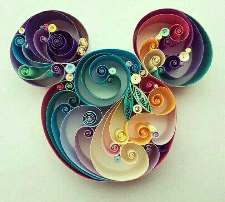 Mickey Mouse Paper Art Awesome Paper Quilling Designs Quilling Designs Quilled Paper Art