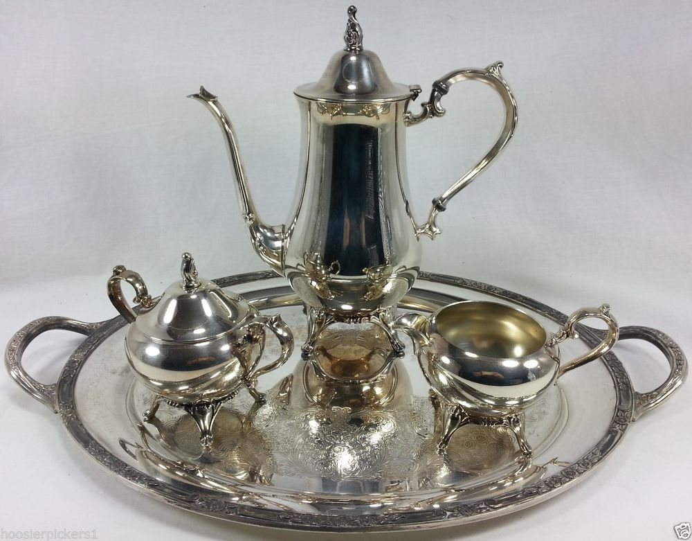Antiques New Fashion Oneida Silver Plated Coffee Set 4 Pieces Furniture