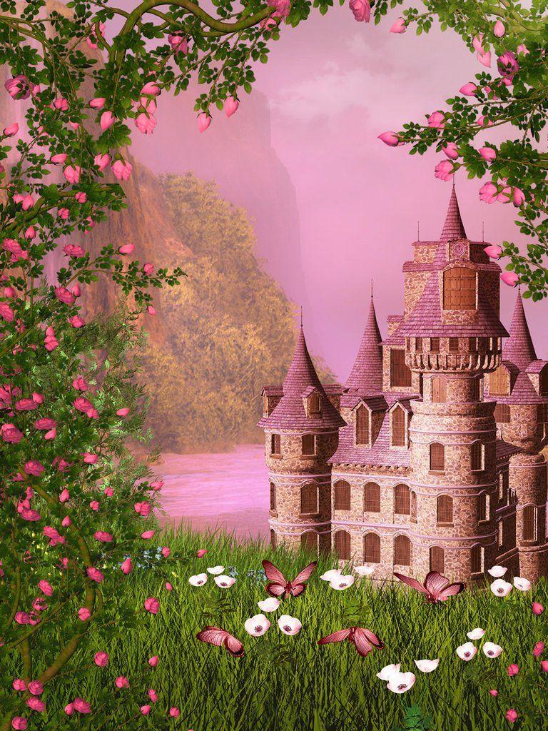 Life Magic Box Vinyl Fairy Tale Castle Cool Backgrounds For Photos Pink Wallpaper Backdrop Spring Flowers Photography Cool Backgrounds Castle Backdrop