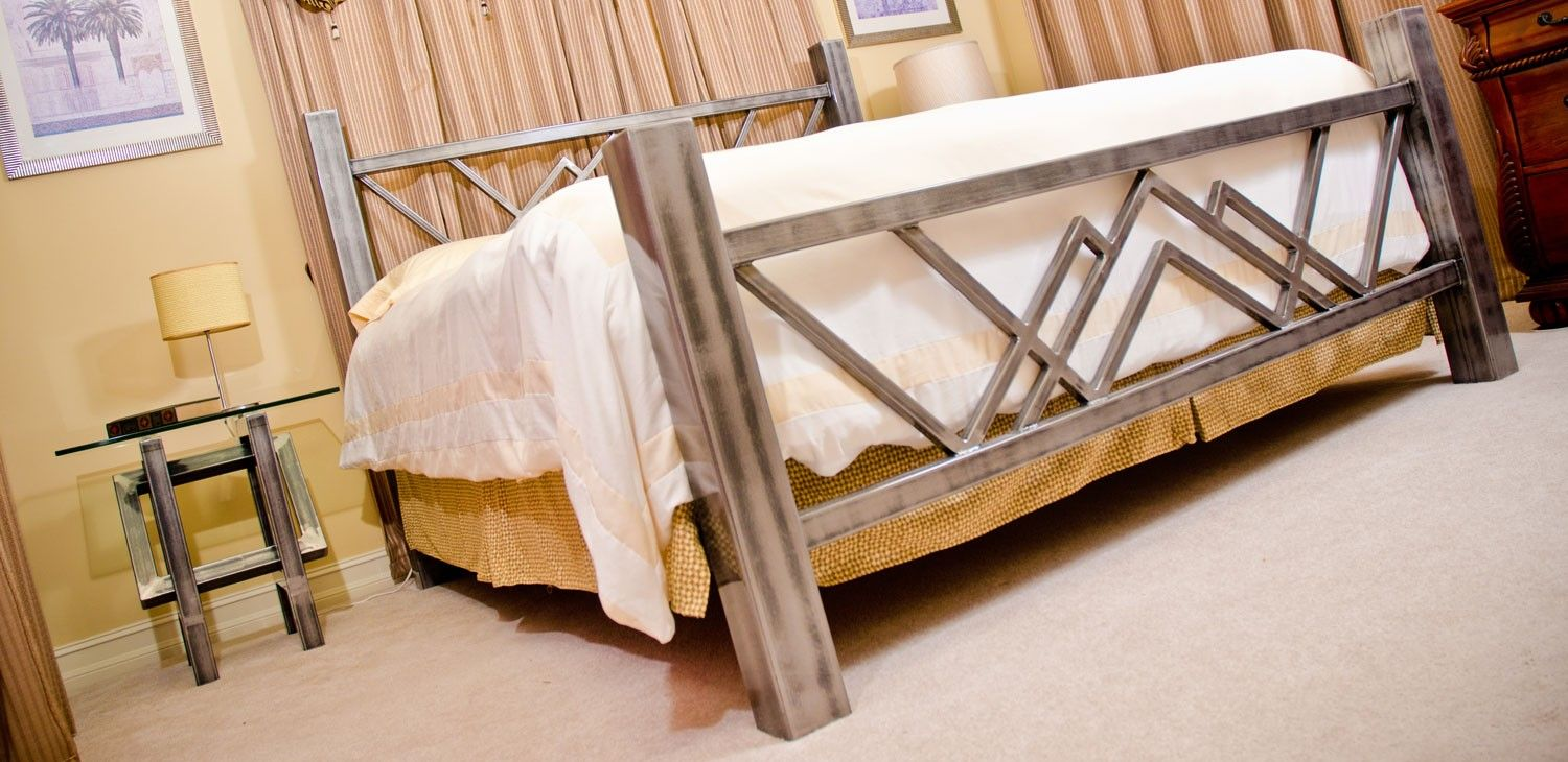 W Bed Steel Bed Made In The Usa Boltz Steel Furniture