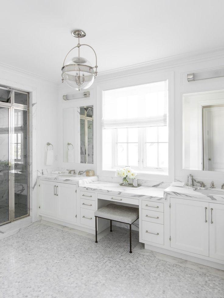 Bathroom roman shade holland  sherry amalfi white trevira sheer alyssa kapito interior design also in master rh pinterest