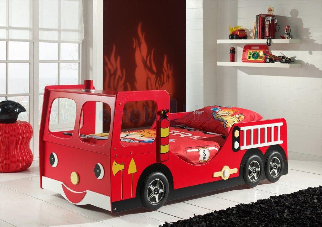 Brandweerbed Online Kopen   Brandweerwagen Kinderbed Rood | Emob4kids Kids  Car Bed, Car Bedroom,