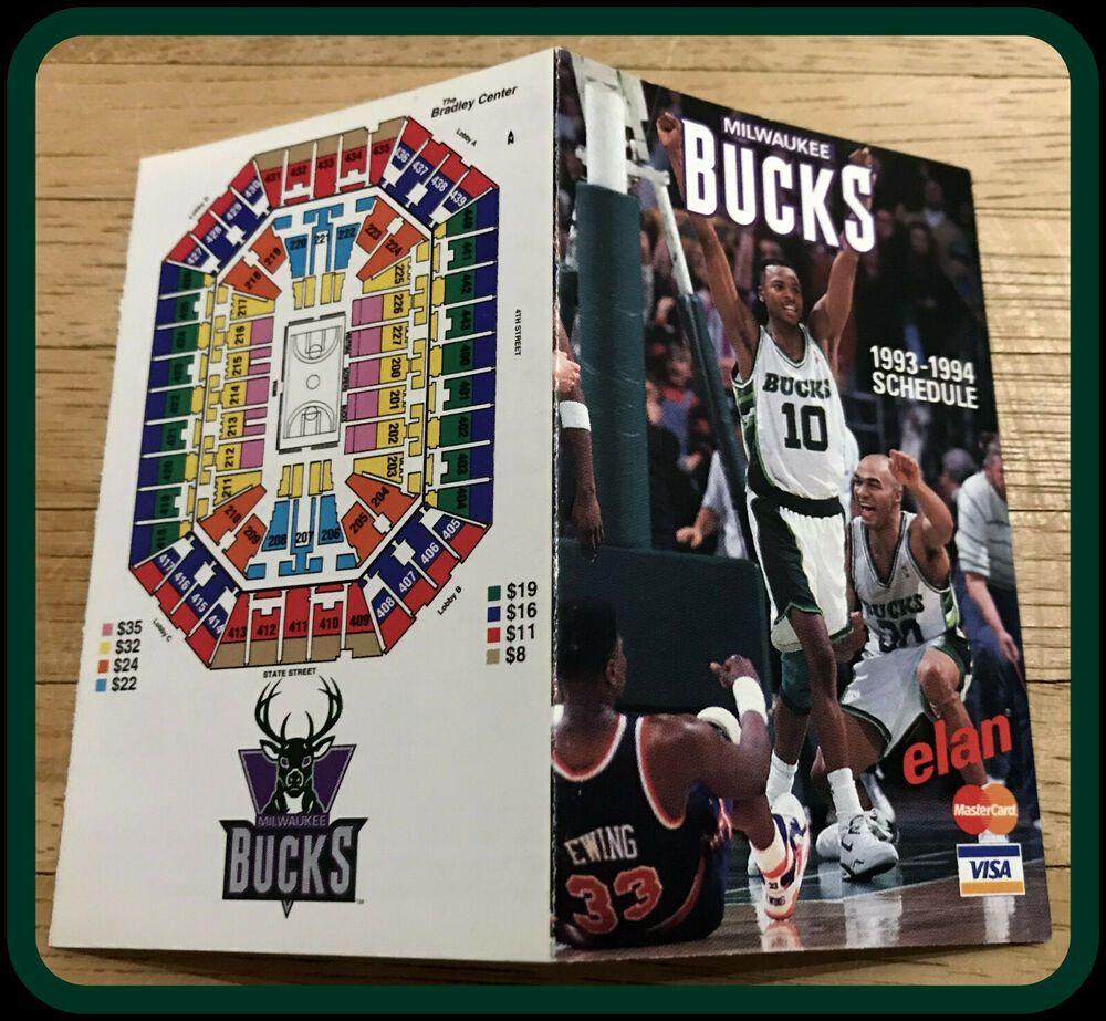 199394 MILWAUKEE BUCK MASTERCARD VISA BASKETBALL POCKET