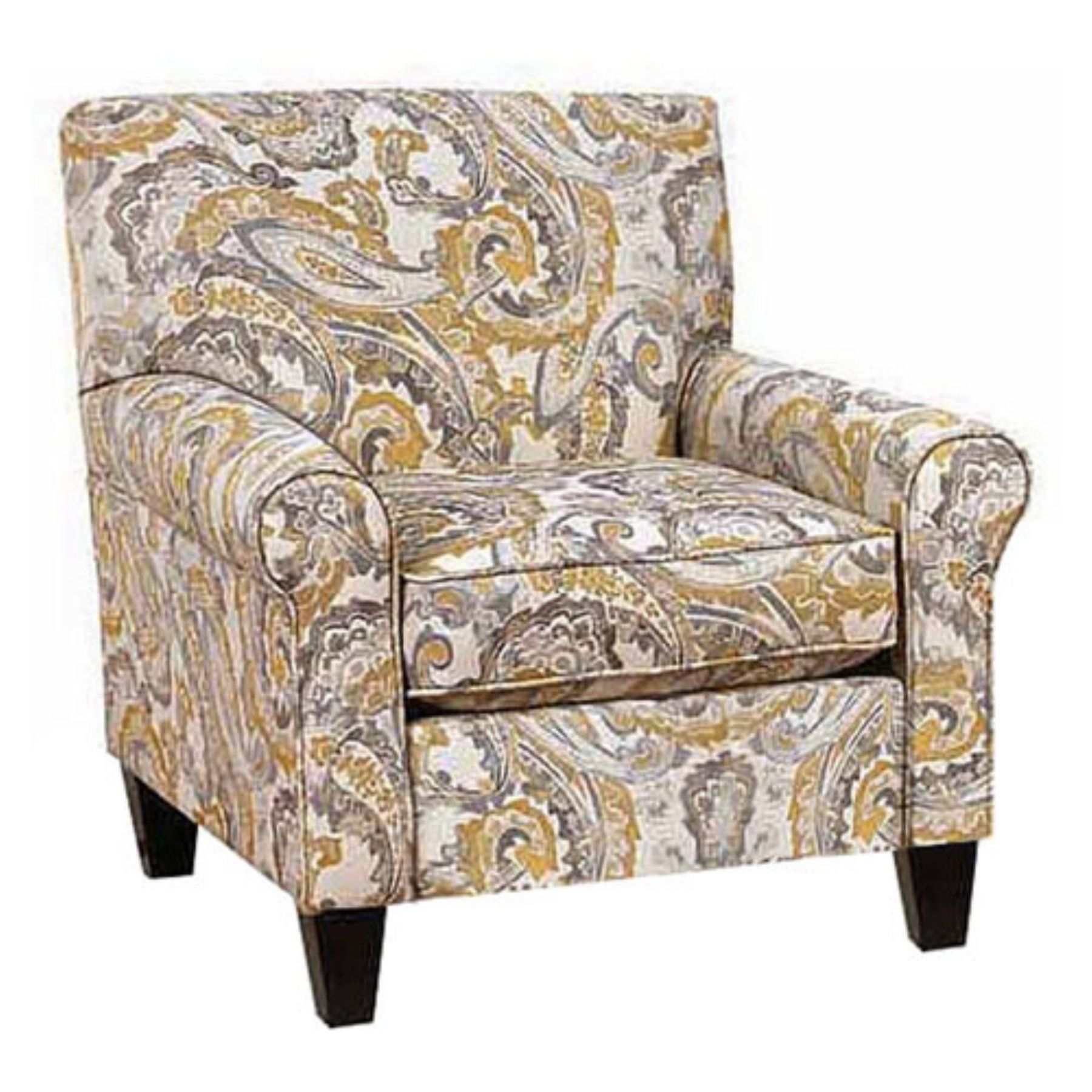 Chelsea Home Furniture Darryl Paisley Upholstered Arm Chair With Optional