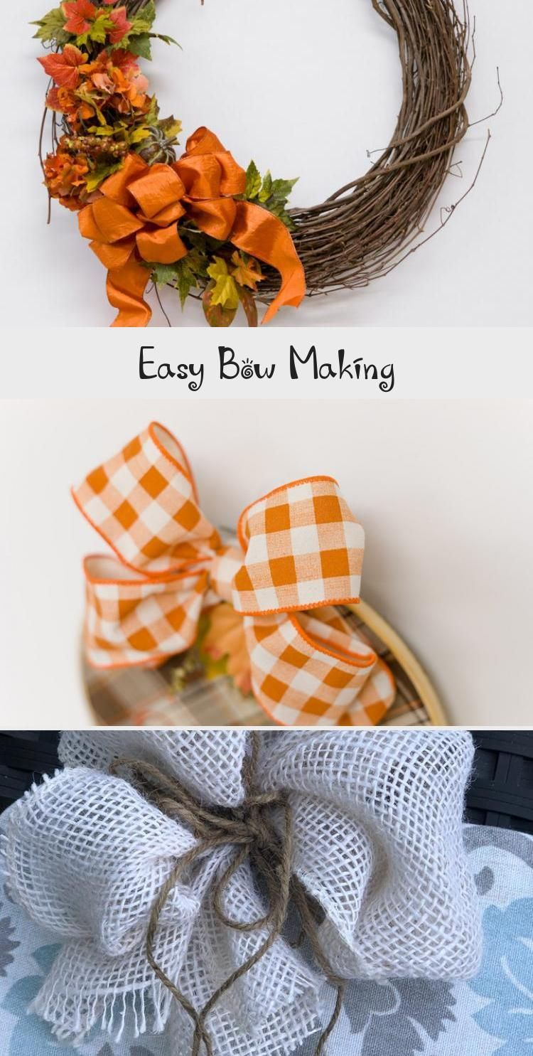Easy Bow Making in 2020 How to make bows, Diy wreath bow