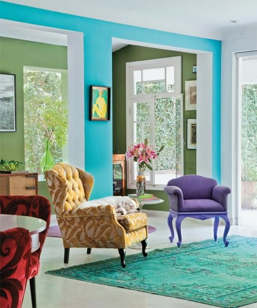Bright Room Colors And Home Decorating Ideas From Designer Neza Cesar