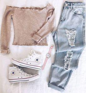 Tenues mignonnes pour l'école #Cute #outfits #college #fashion #style –