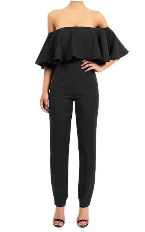 53532ce945a Black Off Shoulder Jumpsuit