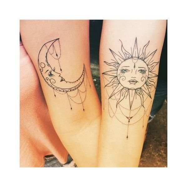 Long Distance Friendship Sun Moon Matching Bestfriend: Two Nice Bicep Tattoos Of The Sun And The Moon.