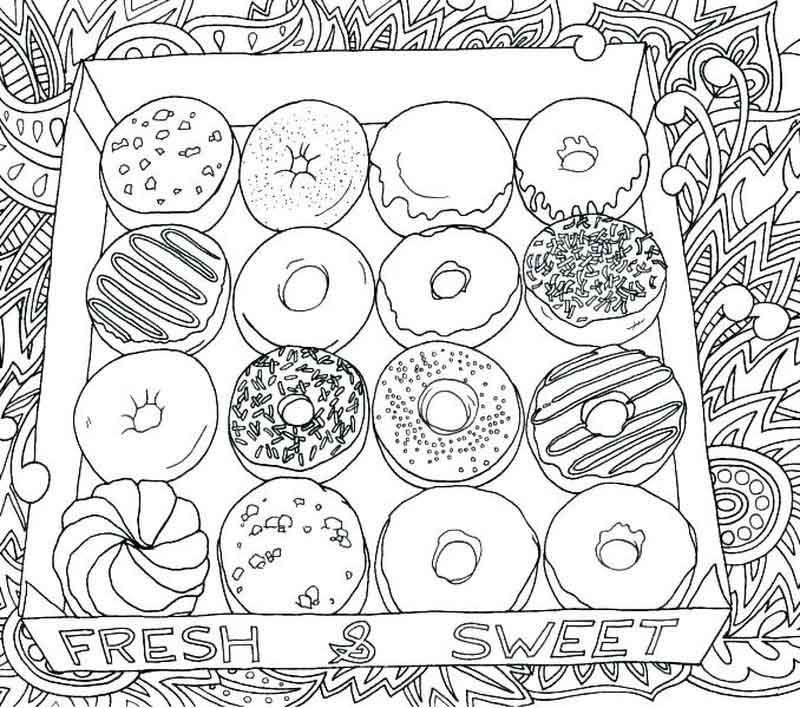 Box Of Donuts Coloring Pages Donut Coloring Page Cat Coloring Page Valentines Day Coloring Page
