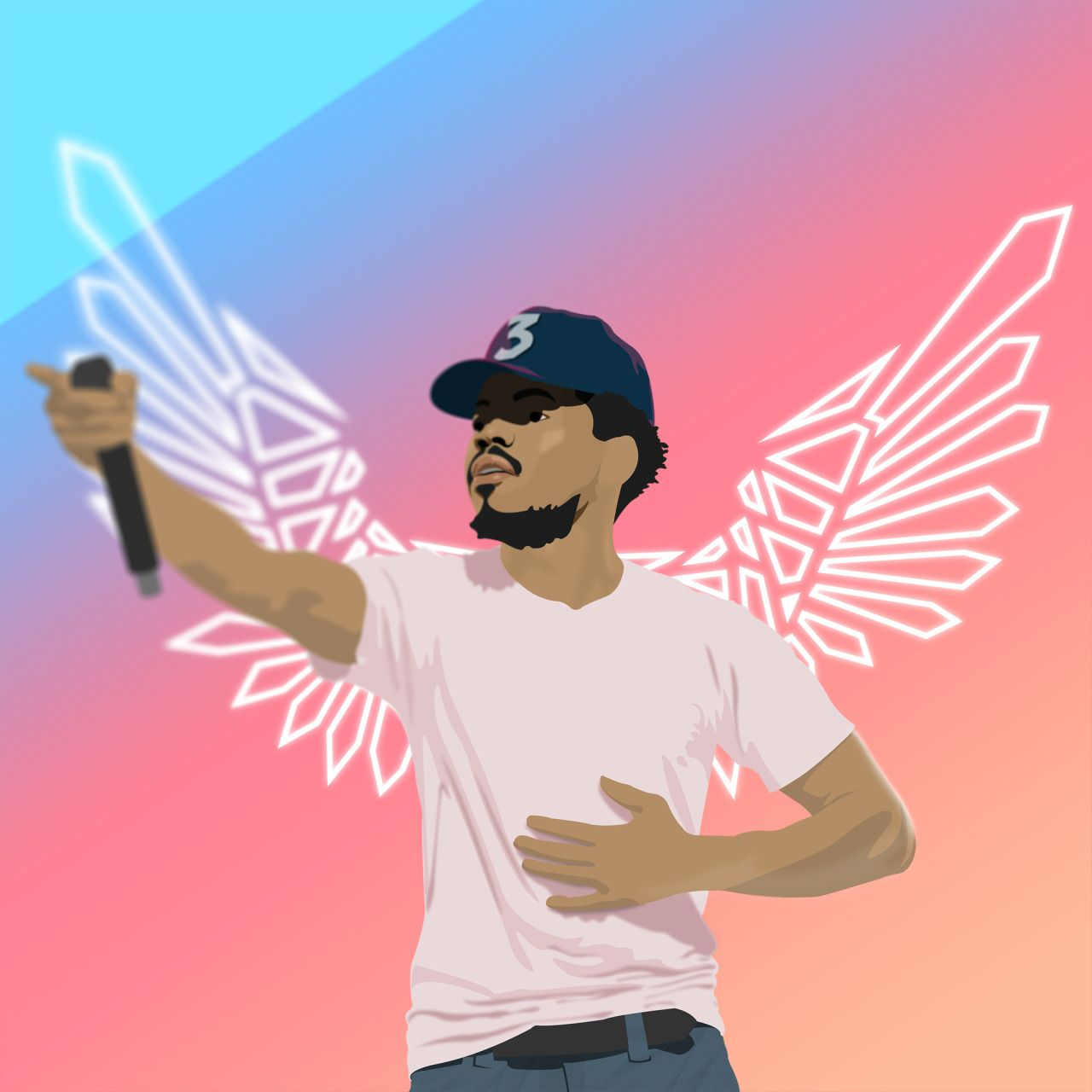 Scot Vs Time Chance Rapper Art Chance The Rapper Wallpaper Chance The Rapper Art