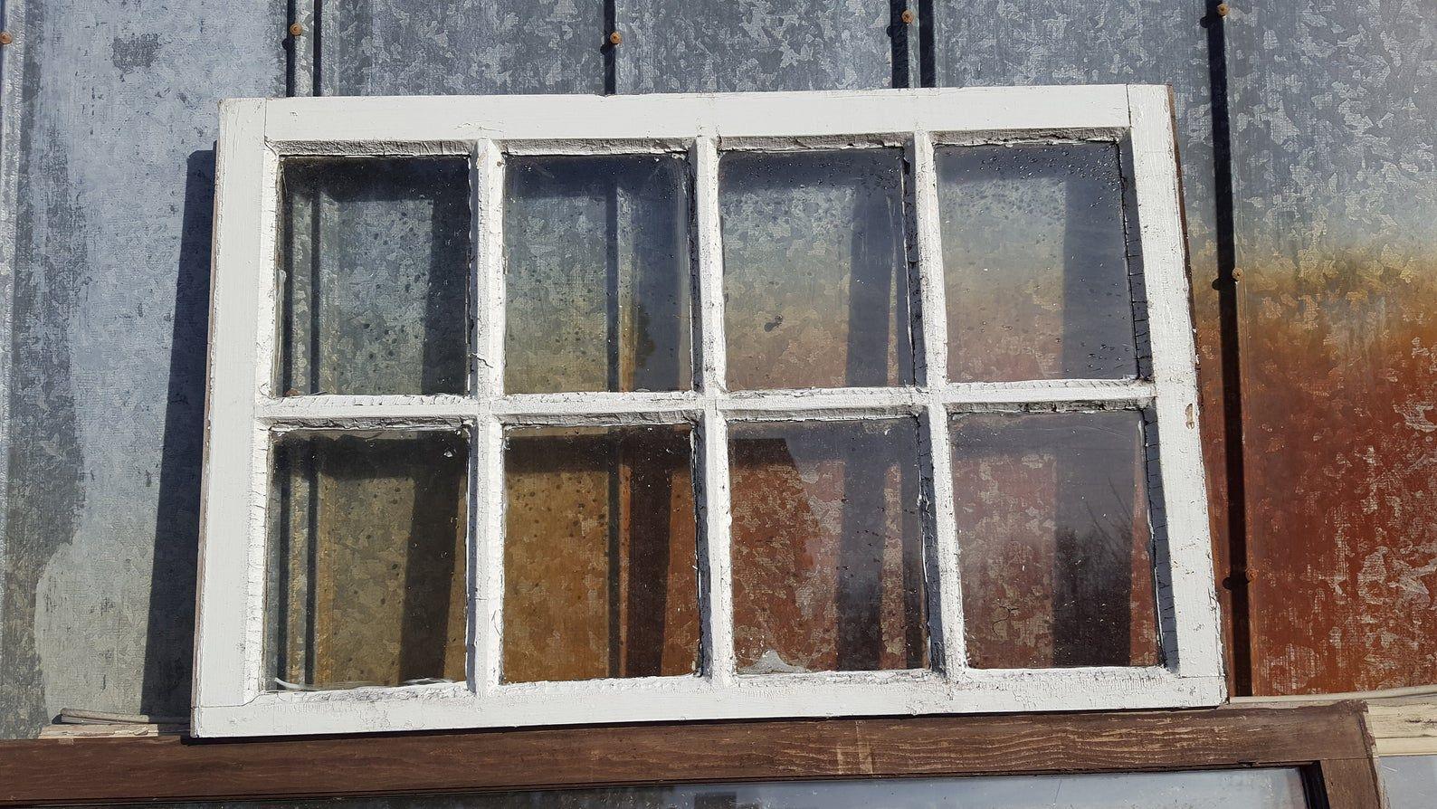 Vintage Authentic Reclaimed Antique Window Pane 8 Pane 36x23 Window Frame Rustic Antique Windows Farm Decor Window Frame