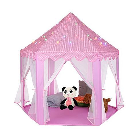 Princess Castle Play Tent Kids Indoor and Outdoor Pink Playhouse Tents with Glow in the Dark Stars Great Gift for Boys Girls Childrenu0027s Day - Get Your Cute ...  sc 1 st  Pinterest & Princess Castle Play Tent Kids Indoor and Outdoor Pink Playhouse ...
