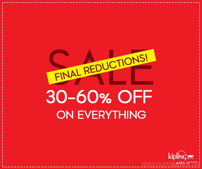 1586b676821 Kipling Final Reduction sale up to 60% Off Back on public demand for a few  more days… Enjoy 30% – 60% off on ALL your favourite bags, school gear &  luggage ...