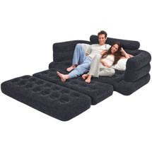 intex queen inflatable pull out sofa bed 1 each home sof cama rh pinterest es