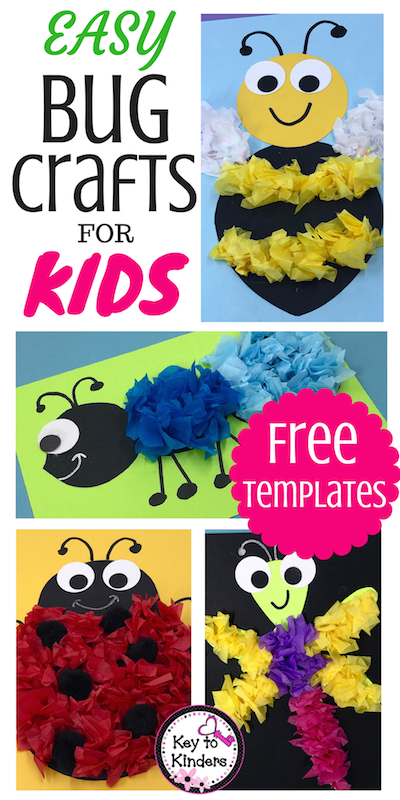 Easy Bug and Insect Crafts - Free #insects