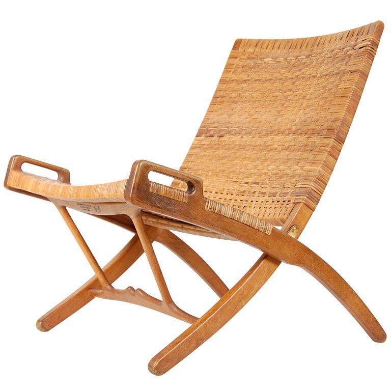 Hans Wegner Original Signed Folding Chair 1stdibs Com Wood
