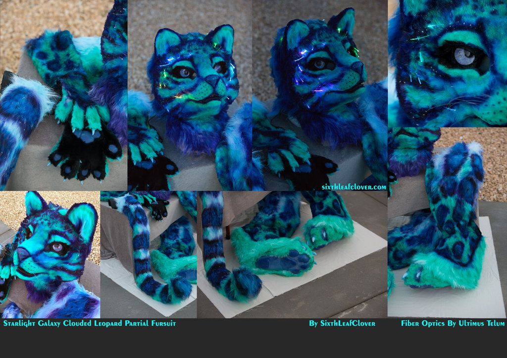 Starlight Galaxy Clouded Leopard with Fiber Optics by The-SixthLeafClover.deviantart.com on @DeviantArt