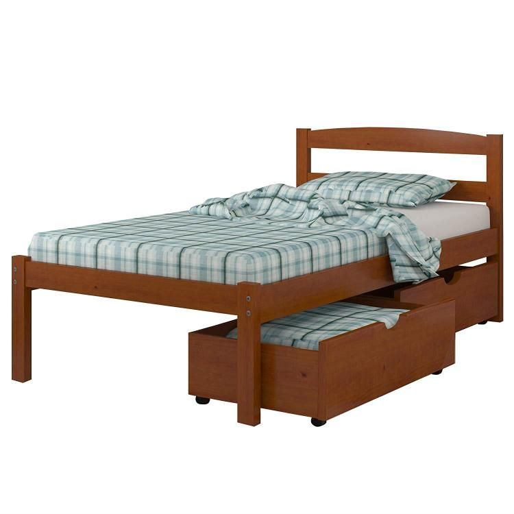 Photo of Donco Kids Econo Bed Size Twin, Color Light Espresso, Style W/DUAL UNDERBED DRAWERS – Donco Kids – 575-TE_505-E