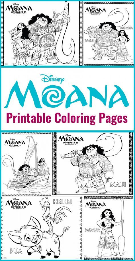 Printables - Disney\'s Moana Coloring Sheets | 2nd Birthday | Moana ...