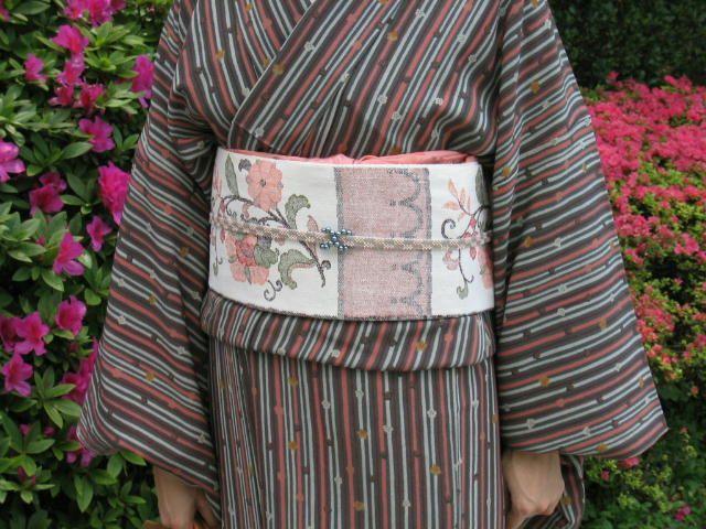 obi sur yukata (kimono de coton pour l'été)