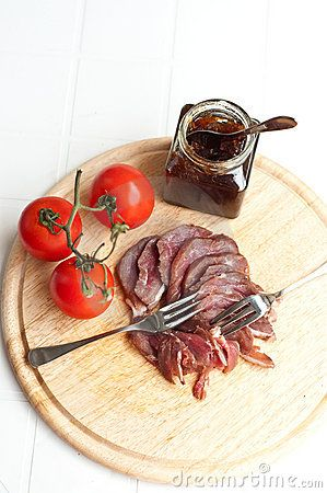 Smoked Duck Breast with Onion Chutney