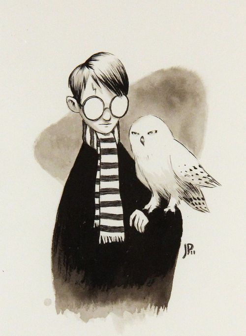 Harry Potter And His Owl E Il Suo Gufo