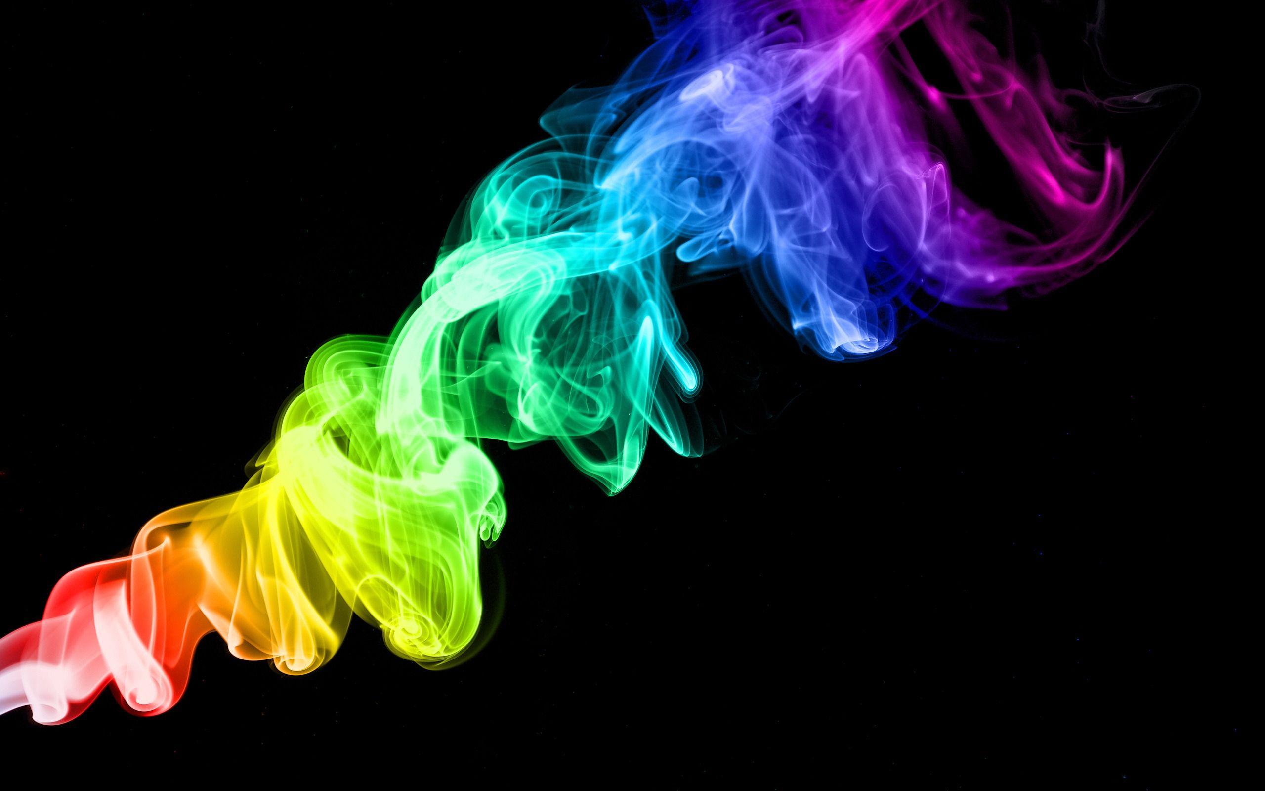 Colorful Smoke In The Air Smoke Wallpaper Smoke Background Rainbow Wallpaper