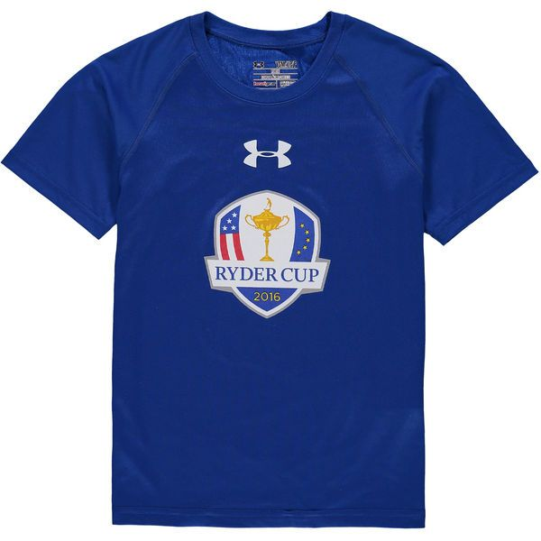 2016 Ryder Cup Under Armour Youth Tech Performance T-Shirt - Royal - $22.39
