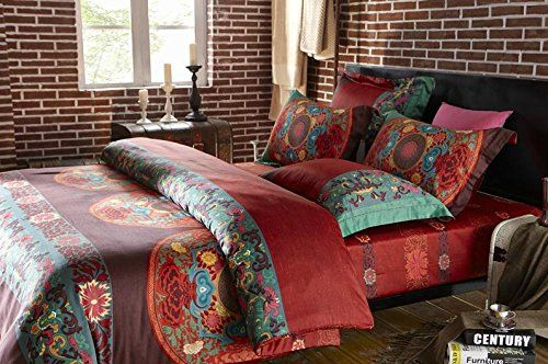 single bedding queen set cover style bohemian uk boho covers duvet