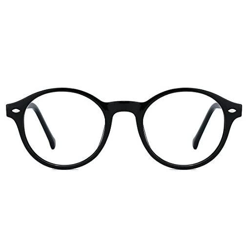 TIJN Men Women Classic Round Blue Light Blocking Non-prescription Frosted Eyeglasses Frame #WomenFashionGlasses #WomenGlasses