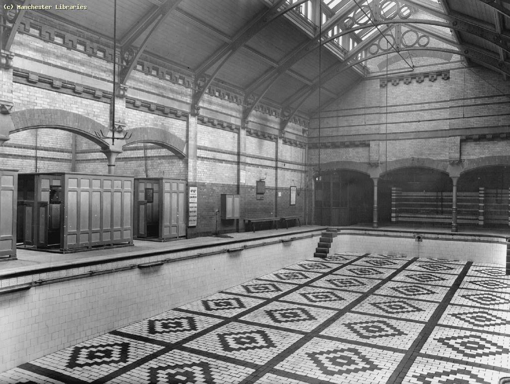Uk manchester stretford rd leaf st public bath hulme female baths 1860 built by the for Public swimming pools manchester