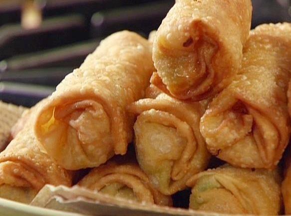 New Orleans Stuffed Crab Eggroll Recipe Egg Roll Recipes Food Network Recipes Food