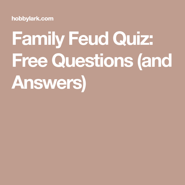 graphic regarding Bible Family Feud Questions and Answers Printable Free called Spouse and children Feud Quiz: No cost Queries (and Solutions) Paparazzi