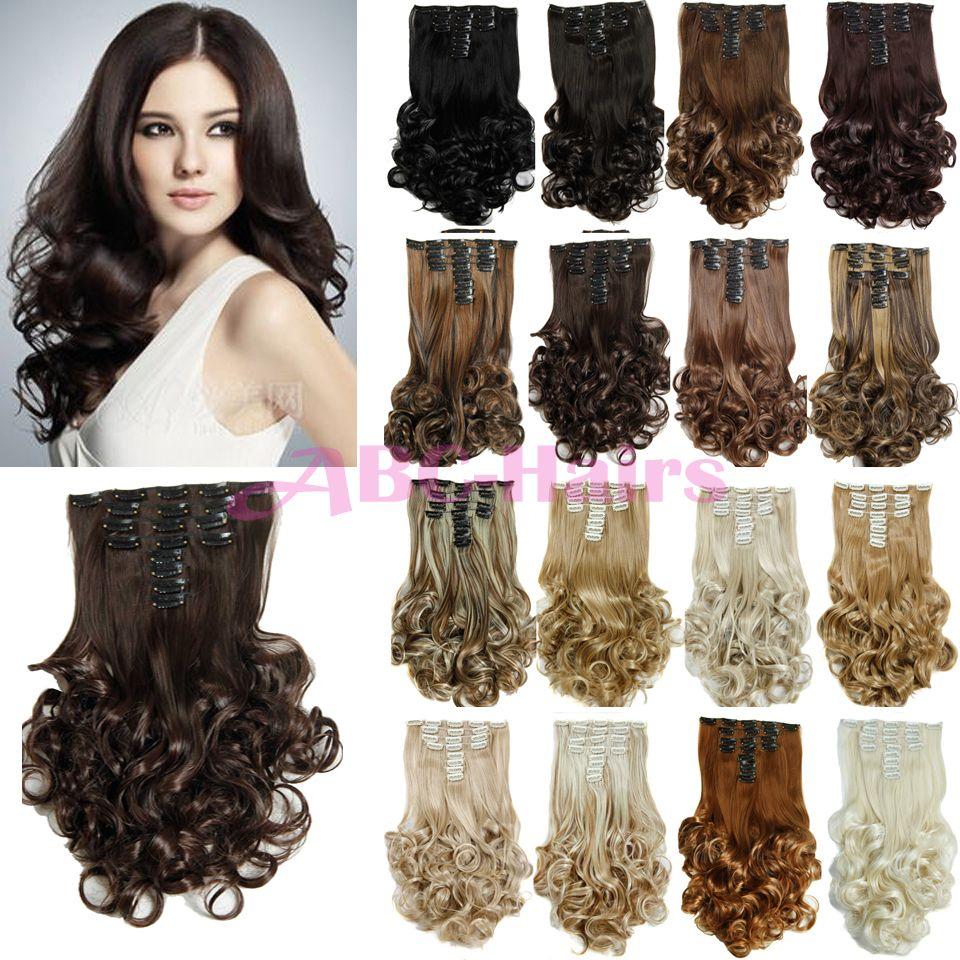 Extensiones de cabello natural rizado con clip