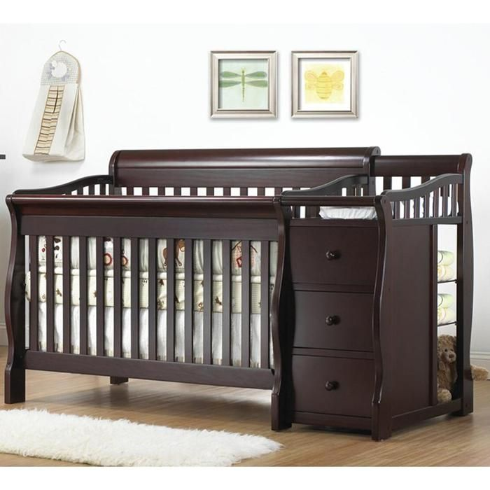 Sorelle Tuscany 4-in-1 Convertible Crib and Changer in Espresso nfm ...